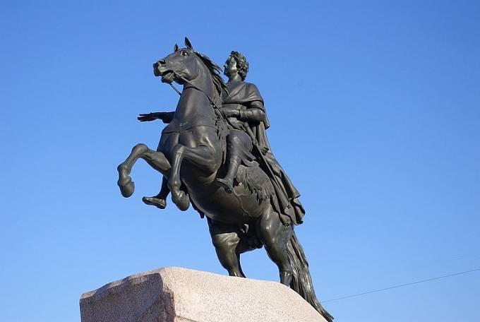 Socha věnovaná Petrovi I. v Petrohradu