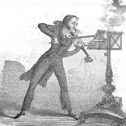 Niccolò Paganini - dobová karikatura