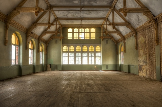Interiéry dnes opuštěného sanatoria
