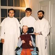 Julek s přáteli, květen 1995, klášter sv. Jiljí, seminář Občanského institutu