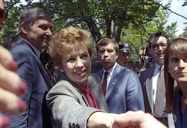 Raisa Gorbačovová při návštěvě Bostonu