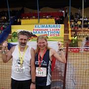 Nejdříve maraton, Ivanin manžel Libor půlmaraton a pak výstup na nejvyšší horu Afriky Kilimandžáro (5895 m)