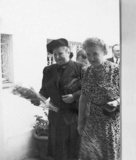 Marta Gottwaldová a Hana Benešová