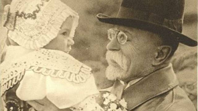 Prezident Masaryk s Evou Neugebauerovou