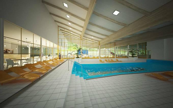 Vizualizace: Multifunkční bazén