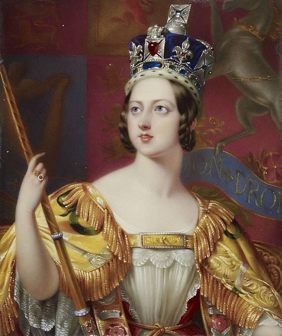 Královna Viktorie při korunovaci