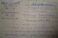Propustka z nemocnice v Mičurinsku po zranění u Sokolova