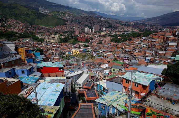 Kolumbijské město Medellin