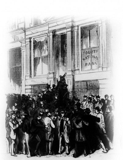 Panika se roku 1873nevyhnula ani New Yorku.