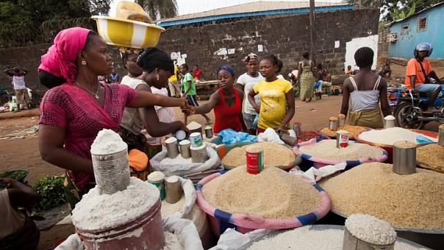 Tržiště ve Rwandě.