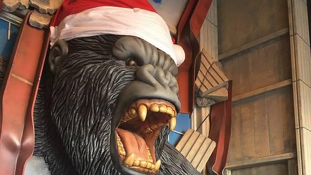 King Kong v hollywoodském voskovém muzeu v Bransonu