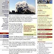 Webová stránka serveru BBC
