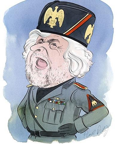Karikatura Beppeho Grilla.