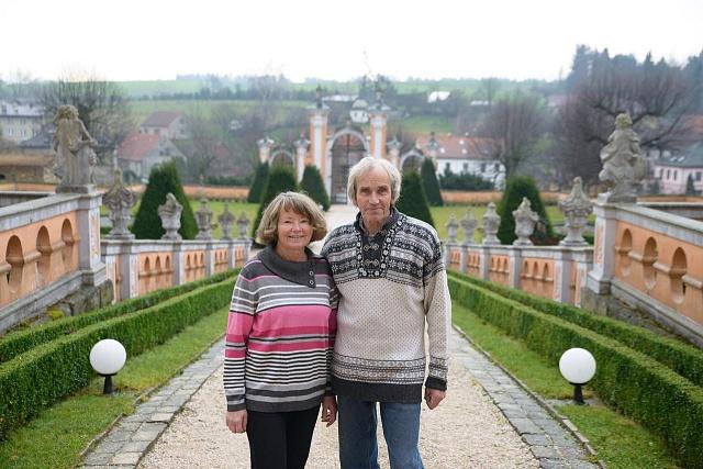 Manželé Magda a Petr Kučerovi, majitelé zámku Nové Hrady