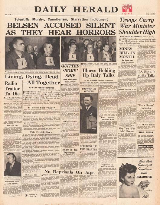 O souzení Irmy Grese se psalo i v novinách