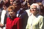 Raisa Gorbačovová s Barbarou Bushovou