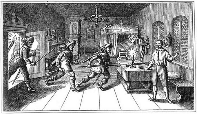 Zavraždění Albrechta z Valdštejna v Chebu.