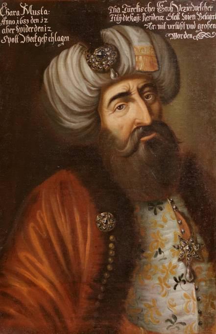 Vrchní velitel osmanské armády Kara Mustafa.