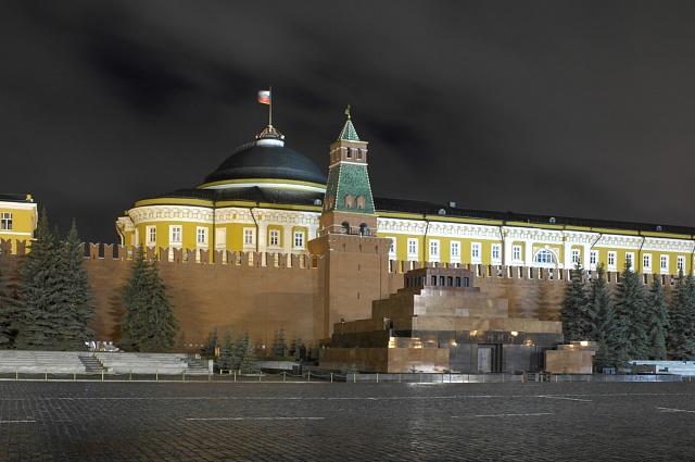 Leninovo mauzoleum sjeho mumií vMoskvě před Kremlem