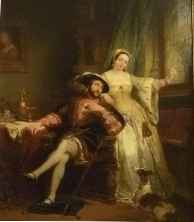 Král Francis Ia jeho sestra Margareta Navarská, olej na plátně od Nicaise de Keysera
