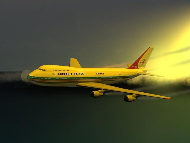 Let KAL 007 v představách grafických designérů