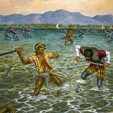 Střety s piráty byly na Filipínách časté.