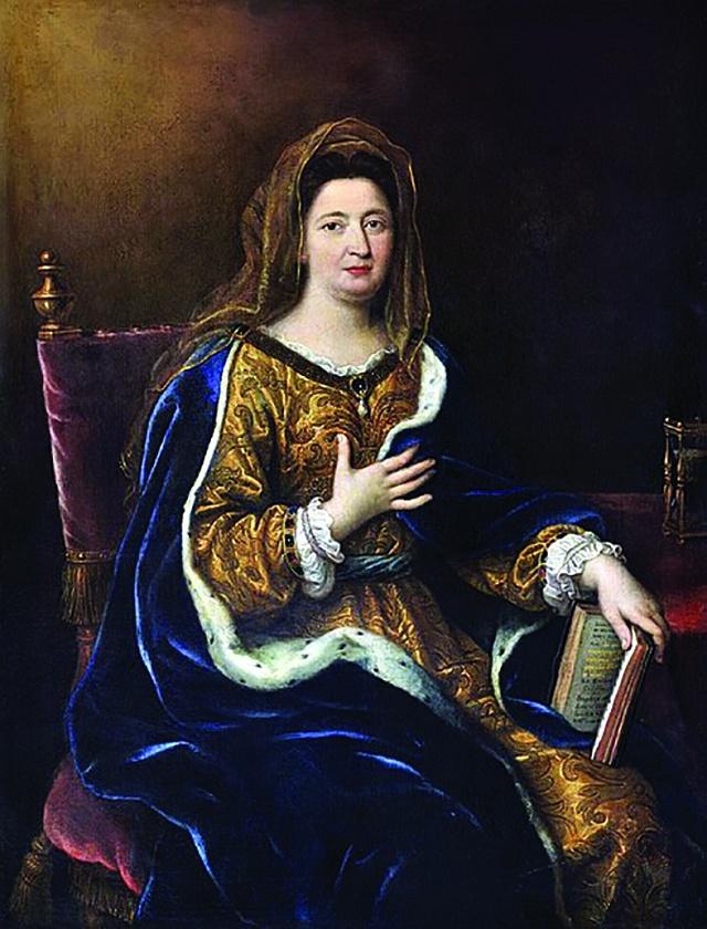 Françoise d'Aubigné později markýza de Maintenon.