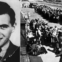 Josef Mengele v Osvětimi rozhodoval, kdo půjde z transportu přímo do plynové komory.