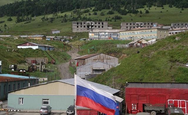 Ruská základna na Kurilském ostrově Šikotan.