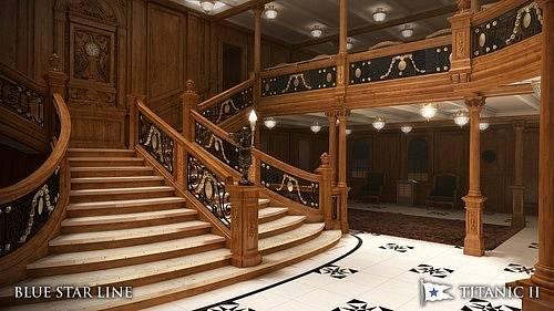 Loď je navržena tak, aby se vnitřním i vnějším vzhledem co nejvíce podobala původní verzi Titaniku.
