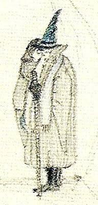 Vlastní Tolkienovo zobrazení jeho čaroděje