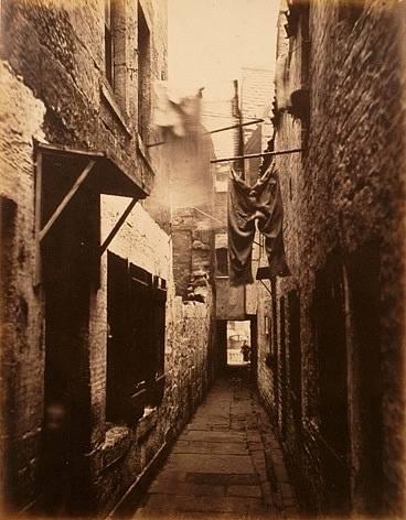 Chudá čtvrť v Galsgow v roce 1871