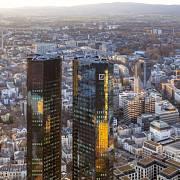 Sídlo banky Deutsche Bank ve Frankfurtu nad Mohanem.