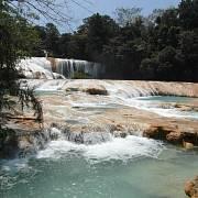 Modré vodopády u města Palenque