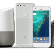 Google Wifi, Chromecast media player, Home speaker, Pixel phone a Daydream.