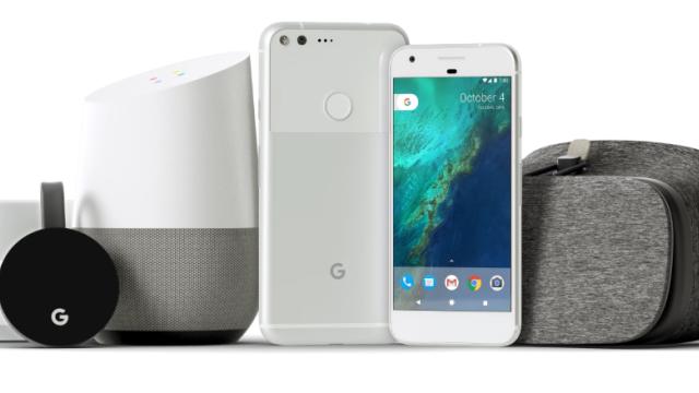 Google Wifi, Chromecast media player, Home speaker, Pixel phone a Daydream.