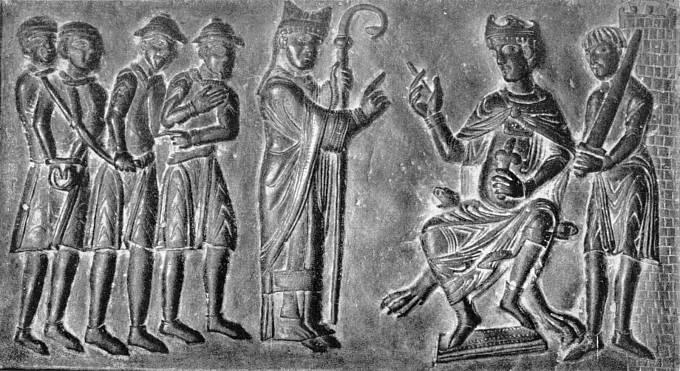 Svatý Vojtěch žádá Boleslava II. o zrušení otroctví