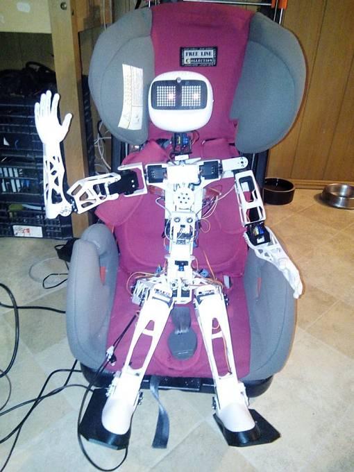 Humanoidní robot rád zdraví