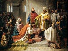 Podle Kristiánovy legendy byl Bořivoj I. pokřtěn moravským biskupem sv. Metodějem, který spolu s bratrem Konstantinem přišel na Velkou Moravu šířit křesťanskou víru.
