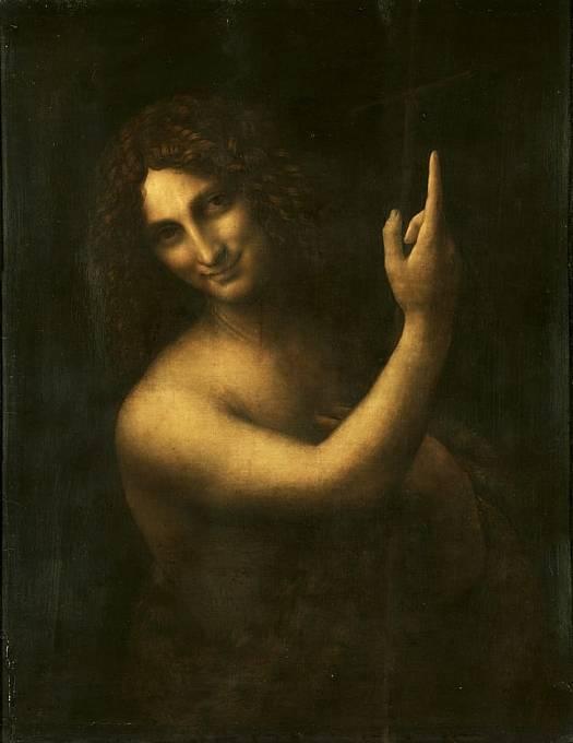 """""""Svatý Jan Křtitel"""" od Leonarda Da Vinciho - jedno z nejznámějších zobrazení úsměvu v dějinách"""