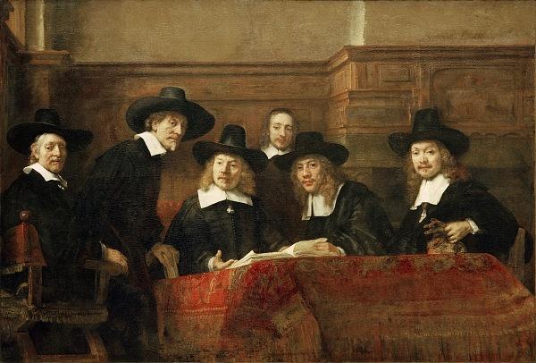 Rembrandt van Rijn: Představenstvo soukenického cechu, 1662