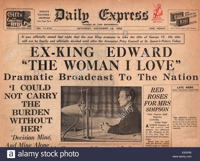 Pro dobová média byla Eduardova abdikace událostí století