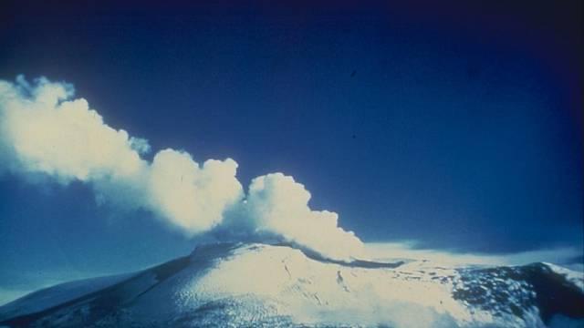 Sopka Nevado del Ruiz v roce 1985