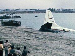 Místo pádu letounu Il-18B do jezera Zlaté piesky v Bratislavě