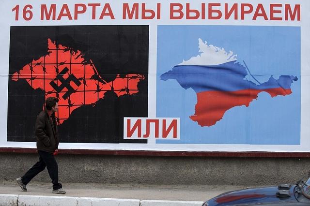Pod takovou mediální masáží hlasovali předloni obyvatelé Krymu opřipojení kRusku