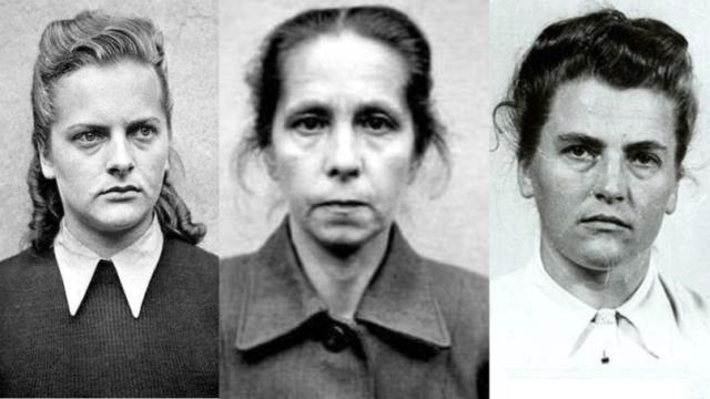Nacistické dozorkyně: Irma Grese, Juana Bormann a Maria Mandel