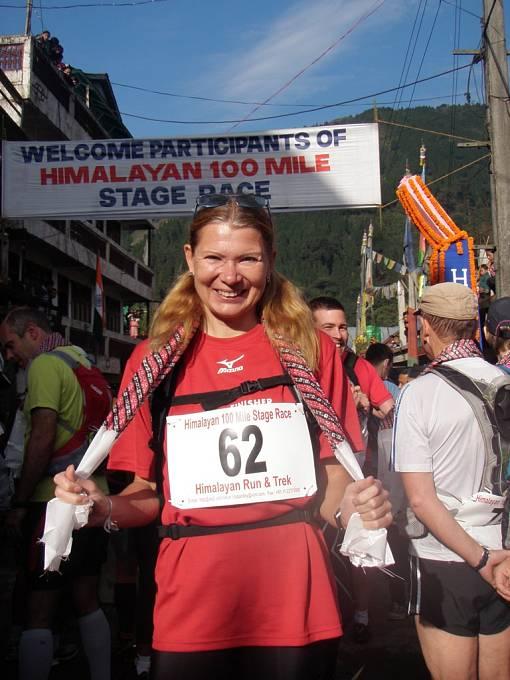 100 himálajských mil a a druhé místo mezi ženami s náskokem 40 minut