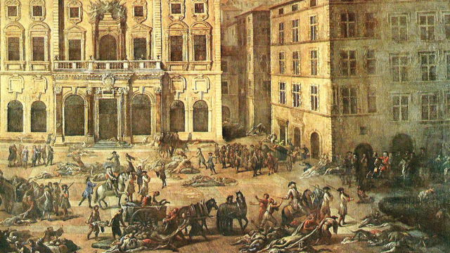 Poslední evropská morová epidemie v Marseille, 1720