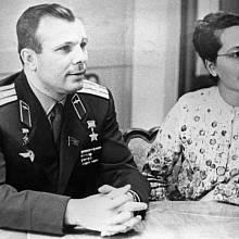 Jurij Gagarin s manželkou Valentinou