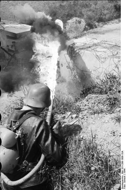 Německý voják vseverní Francii